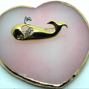 Moby Dick Signed pin brooch